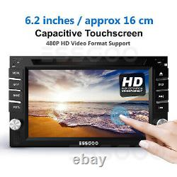 Double DIN 6.2 Car Stereo FM Radio DVD CD Player Bluetooth GPS SAT NAV + Camera