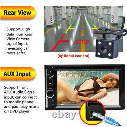 Double DIN 6.2 Car Stereo Mirror Link for GPS DVD Player Radio + Rear Camera