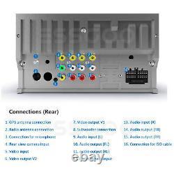 Double DIN 6.2 Inch Car Stereo Radio DVD CD Player Bluetooth GPS NAVI FM AM RDS