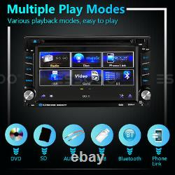 Double DIN 6.2 in Car Stereo DVD CD Player Audio MP5 GPS Navi Bluetooth USB AUX