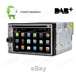 Double DIN Android 6.0 Car Headunit DVD Player GPS DAB+ WiFi 3G OBD2 DVR BT RDS