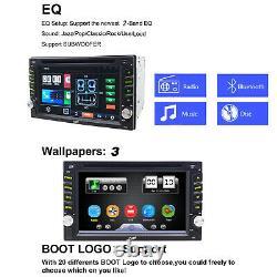 Double Din Car DVD CD Player Stereo Radio GPS Sat Nav Bluetooth USB DAB ISO 6.2