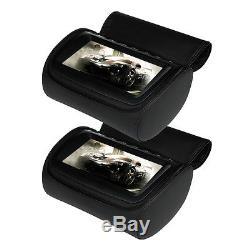 Dual 9 Headrest Car DVD Player with Zipper Screen Cover Games+IR Headphone