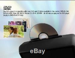 Dual Portable Car Dual Digital 9 LCD Screen Headrest Monitor DVD Players Games