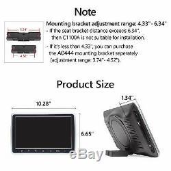 Eonon C1100A 2x 10.1Car Headrest DVD Player 2xIR Headphones IR/FM Headset LCD