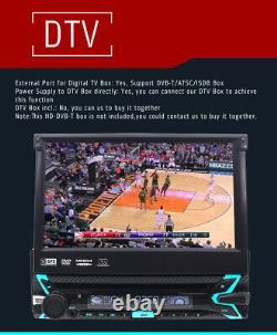 FOIIOE Single 1 DIN 7 In Dash Car DVD Player Bluetooth Stereo DAB+ GPS SAT NAV