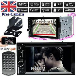 Fit For Audi A1 A4 Double 2 Din Car CD DVD FM Player Radio Stereo USB FM+Camera