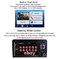 Fit For Audi A3 2003-2013 S3 RS3 7 Car Radio Stereo DVD Player GPS Sat Nav BT