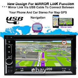 Fit Ford Focus Transit 2 Din Car CD DVD Player Radio Stereo Headunit+Rear Camera