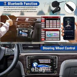 Fits VW Double 2 DIN 7Inch Autoradio Car Stereo SAT NAVI GPS DVD Player VMCD CCD