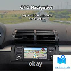 For BMW E39 E38 7 2Din CAR STEREO GPS CD DVD RADIO SAT NAVI FM SWC RDS BT Black