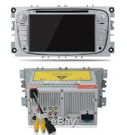 For Ford Focus/Mondeo/S-Max Radio 2Din 7Car Stereo DVD Player GPS Sat Nav SWC