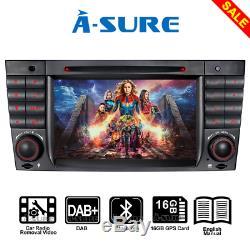 For Mercedes Benz W203 W209 7 Car Radio DVD Player GPS Bluetooth/USB/SD/DAB+