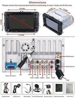 For VW Passat Golf Transporter T5 Car Stereo DVD RDS Radio Bluetooth GPS Sat Nav