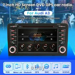 GPS Sat Nav For Audi A3 2003-2012 S3 RS3 7Car Radio Stereo DVD Player BT DAB+CD