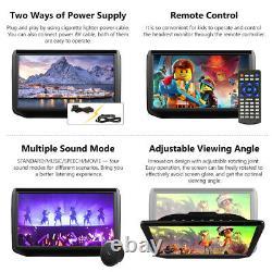 HDMI Splitter+2020 2x 11.6 IPS Screen Car Headrest TV Monitor DVD/USB/SD Player