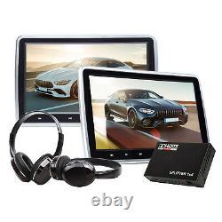 HDMI Splitter+Eonon 2x 10.1Screen Car Seat Headrest DVD Player Monitor Headsets