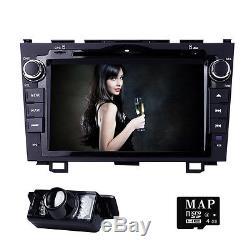 HIZPO 8Car GPS SD CD DVD Player BT Radio fit Honda CRV 2007 2008 2009 2010 2011