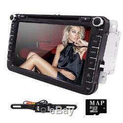 HIZPO 8 Radio Stereo Multimedia Car DVD Player GPS for VolksWagen VW EOS+Camera