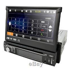 HIZPO Single DIN 7HD Car CD DVD Player GPS SAT NAV Bluetooth Stereo Radio