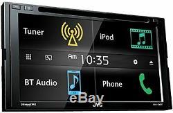 JVC KWV430BT 6.8 Double DIN Bluetooth In-Dash DVD/CD/AM/FM In-Dash Car Stereo