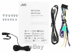 JVC KW-M740BT 6.8 2-Din Car Media Receiver withApple CarPlay/Android Auto/Weblink