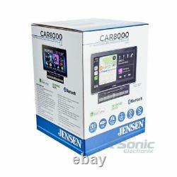 Jensen CAR8000 Double DIN In-Dash CD/DVD, Bluetooth Car Stereo Receiver