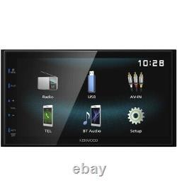 Kenwood DMX120BT Bluetooth Digital Multimedia Receiver with 6.8 2DIN Car Stereo