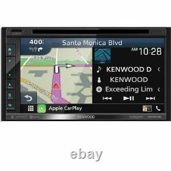 Kenwood DNX576S 6.8 WVGA Double DIN Stereo Receiver with Apple Car, Android Auto