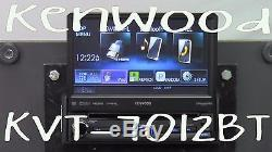 Kenwood Kvt-7012bt 6.95 Single Din Bluetooth In Dash Flip Out DVD Car Stereo