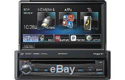 Kenwood Kvt-7012bt 6.95 Single Din Bluetooth In Dash Flip Out DVD Car Stereo