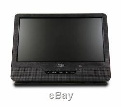 LOGIK Multi Region 9 Twin Screen Dual DVD In Car Portable Head Rest DVD Player