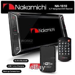 NAKAMICHI NA1610 7 HD Screen Double DIN Car DVD Player Stereo GPS Sat Nav