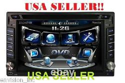 NEW 6.2 Inch DVD Touch screen Double 2 DIN Car CD Mp3 3D IPOD Player With GPS NAVI