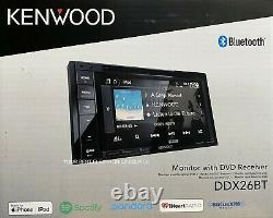 NEW Kenwood DDX26BT 2-DIN 6.2 CD/DVD Car Stereo with Bluetooth