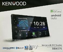 NEW Kenwood DDX57S 2-DIN 6.8 CD/DVD Car Stereo with CarPlay & Android Auto