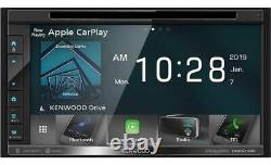 NEW Kenwood DDX6706S 2-DIN 6.8 CD/DVD Car Stereo with CarPlay & Android Auto