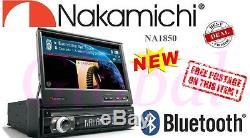 Nakamichi 1Din 7 Touch Screen Bluetooth CAR DVD CD MP3 Player GPS Ready NA1850