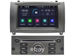 Navi Car Dvd GPS Radio Player for Peugeot 407 2004-2010 7 Android 10 WiFi 4+64g