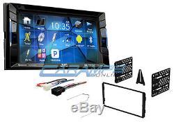 New Jvc 6.2 Bluetooth Car Stereo Radio & Cd/dvd Player & Sirius XM W Dash Kit