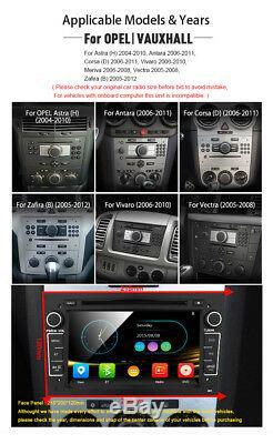 Opel Vauxhall Corsa Astra GPS Navigation Car DVD Player BT Stereo Radio Black