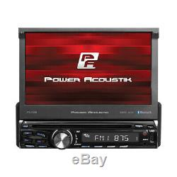 POWER ACOUSTIK PD-720B CAR 1DIN DVD BLUETOOTH STEREO With MOTORIZED 7 TOUCHSCREEN