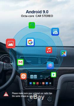 PUMPKIN 7 Android 9.0 Double Din Car Stereo 4GB+64GB GPS WIFI DAB+ AUX Fastboot