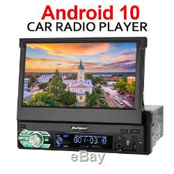 PUMPKIN Single DIN 7 Android 10.0 Car Stereo Bluetooth Touchscreen GPS DAB WIFI