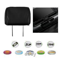 Pair HD HDMI Car Digital Monitor Video 7 Headrest DVD Player Game USB TV IR SD