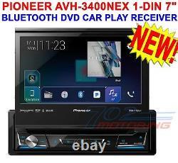 Pioneer Avh-3300nex 1-din Bluetooth 7 Dash Dvd/cd/am/fm Car Play Receiver New
