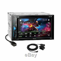 Pioneer DVD BT Camera Ready Dash Kit Amp Harness for 07-up Chrysler Dodge Jeep