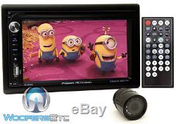 Pk POWER ACOUSTIK PD-651B 2-DIN 6.2 TV CD DVD MP3 BLUETOOTH USB SD + CAMERA NEW