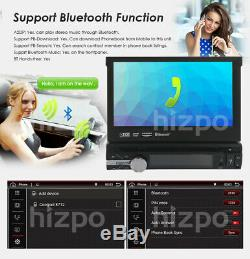 Premium 1 DIN 7 Flip Out Touch Android 8.1 Quad Core Car DVD Stereo Radio OBD2