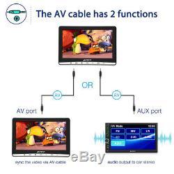 Pumpkin 212 Slot-in Car Headrest DVD Player TV Monitor 1366768 TF USB+Headset